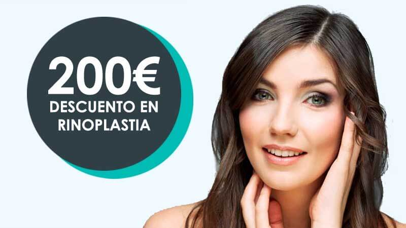 200 euros de descuento en rinoplastia