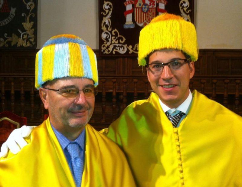 Dr. Prof. Fernando Noguerales, catedrático de Cirugía de la UAH junto con el Dr. Macía Colón
