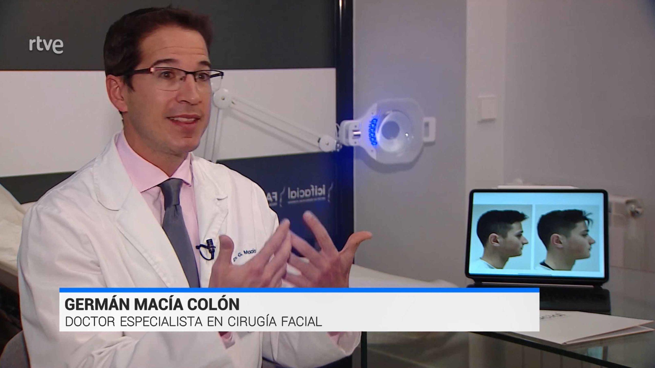 Doctor Macía Colón en el Telediario TVE1