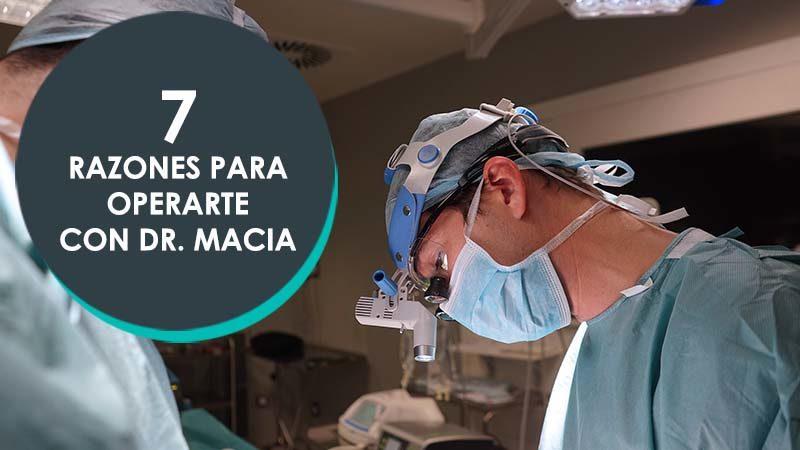 El Dr. Macia realizando una operación