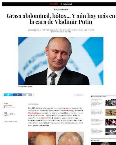 Dr. Macía da su visión en Vanitatis sobre cirugías de Putin