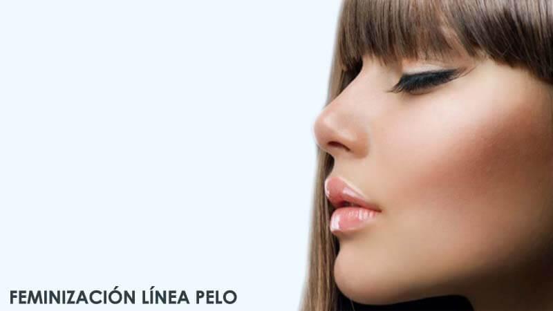 Feminización de línea de pelo