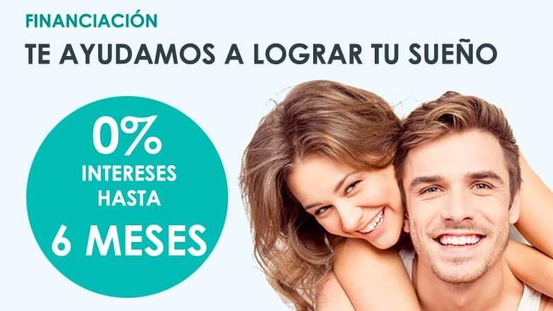 Financiación de cirugía estética facial con 0 intereses a 6 meses