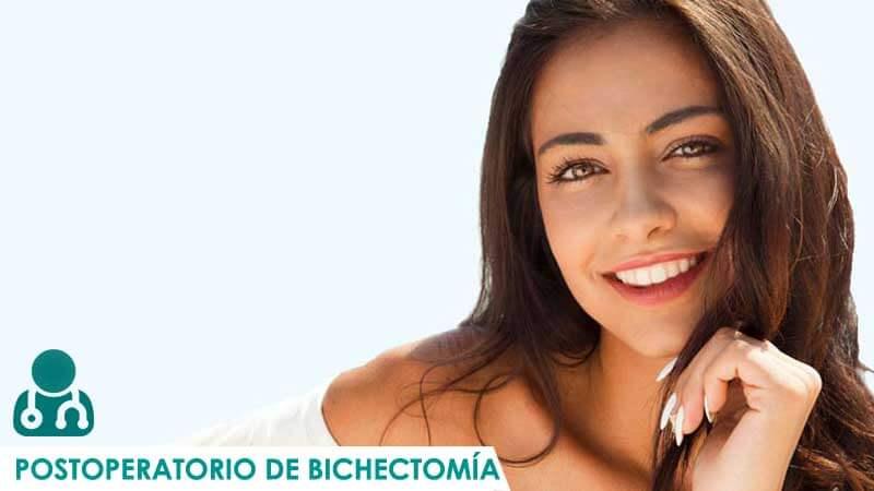 Mujer tras el postoperatorio de bichectomia
