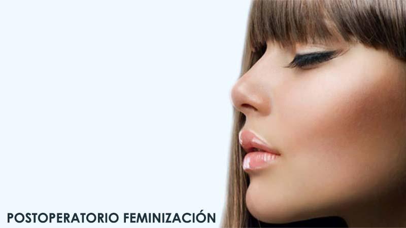 Postoperatorio de cirugía de feminización facial